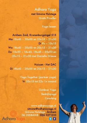flyer / Adhara Yoga