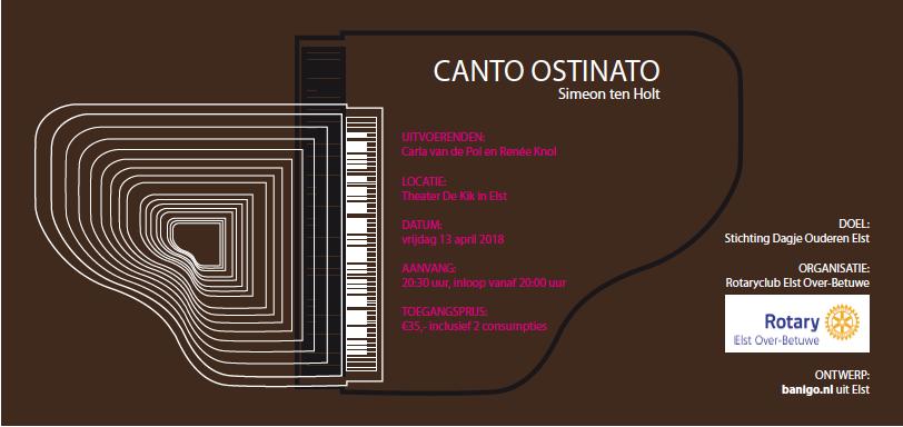 concertkaartje Canto Ostinato