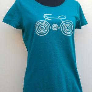 Dames T-shirt (e-fiets)