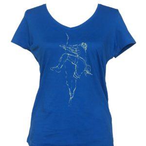 dames t-shirt klimmen